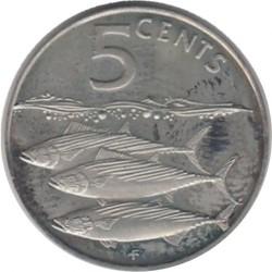Кованица > 5центи, 1985 - Британска Девичанска Острва  - reverse