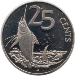 Кованица > 25центи, 1985 - Британска Девичанска Острва  - reverse