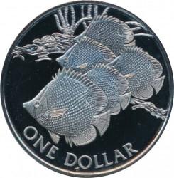 Кованица > 1долар, 1985 - Британска Девичанска Острва  - obverse