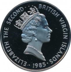 Кованица > 1долар, 1985 - Британска Девичанска Острва  - reverse