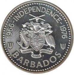 Moneda > 10dólares, 1976 - Barbados  (10 ° Aniversario de la Independencia) - obverse