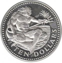 Moneda > 10dólares, 1976 - Barbados  (10 ° Aniversario de la Independencia) - reverse