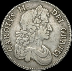Coin > 1crown, 1671-1680 - England  - obverse