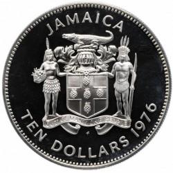 Moneta > 10dollari, 1976 - Giamaica  (Ammiraglio Horatio Nelson) - obverse