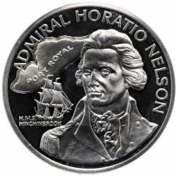 Moneta > 10dollari, 1976 - Giamaica  (Ammiraglio Horatio Nelson) - reverse