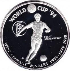 Монета > 20крон, 1993 - Тёркс и Кайкос  (Чемпионат мира по футболу 1994 - Германия чемпион 1954, 1974, 1990) - reverse