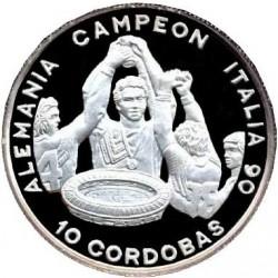 Монета > 10кордоб, 1990 - Нікарагуа  (Germany - Winner of World Cup 1990) - reverse