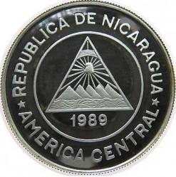 Монета > 10000кордоби, 1989 - Никарагуа  (Discovery of Nicaragua by Columbus) - obverse