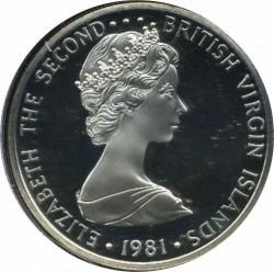 מטבע > 5דולר, 1981 - איי הבתולה הבריטיים  (Royal Tern) - obverse
