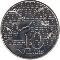 Münze > 10Dollar, 1976-1980 - Trinidad und Tobago  - reverse