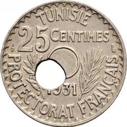 Νόμισμα > 25Σεντίμς, 1931-1938 - Τυνησία  - reverse