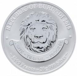 Coin > 5000francs, 2015 - Burundi  (History of Aviation - Kawasaki KI-100) - obverse