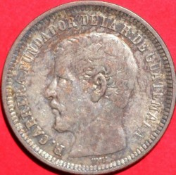 Moneda > 25centavos, 1869-1870 - Guatemala  - obverse