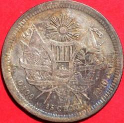 Moneda > 25centavos, 1869-1870 - Guatemala  - reverse