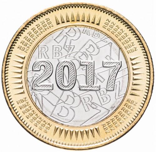Zimbabwe 2016 Bond Coin One Dollar Bi-metallic Coin UNC
