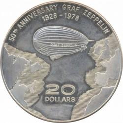 Münze > 20Dollar, 1978 - Dominica  (50th Anniversary - Graf Zeppelin) - reverse