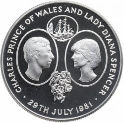 Moneda > 25peniques, 1981 - Santa Elena  (Casamiento del Príncipe Carlos y Lady Diana) - reverse
