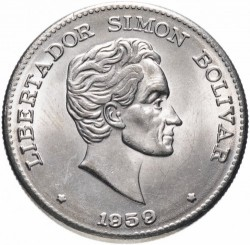 Coin > 50 centavos, 1958-1966 - Colombia - obverse
