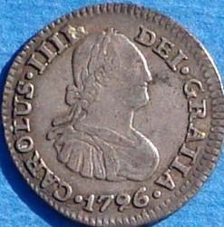 Moneta > ½real, 1792-1808 - Messico  - obverse