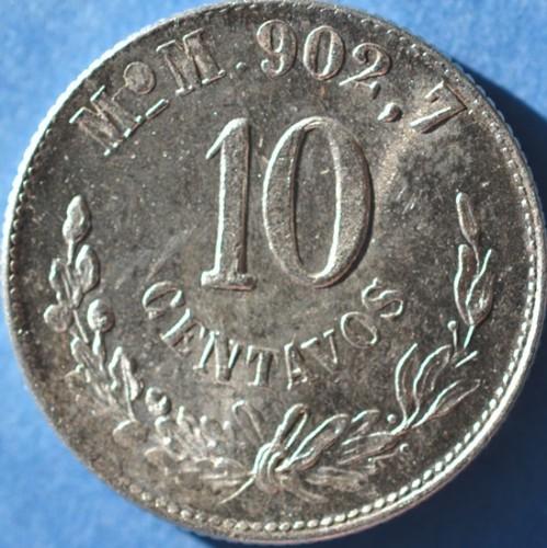 10 Centavos 1898 1905 Mexico Coin
