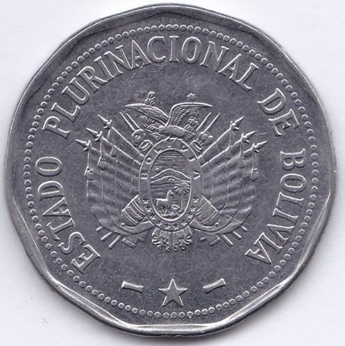 BOLIVIA 4 X 2 BOLIVIANOS 2017 COMMEMORATIVE HIGH GRADE COINS SET RARE AND NICE