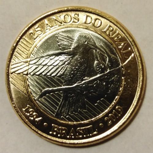 Colibri KMNew UNC 2019-25th Anniversary REAL BRAZIL BIMETALLIC COIN 1 Real