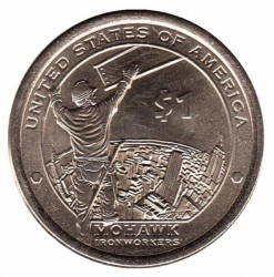 Münze > 1 Dollar, 2015 - USA  (Native American - Mohawk Ironworkers) - reverse