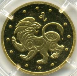 Moneta > 2hrywny, 2008 - Ukraina  (Znaki zodiaku - Lew) - reverse