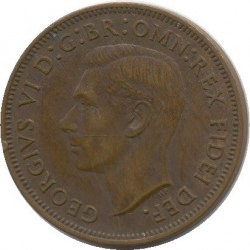 Coin > ½penny, 1949-1952 - Australia  - reverse