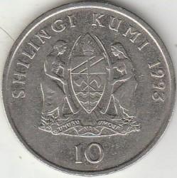 Moneta > 10szylingów, 1990-1993 - Tanzania  - reverse