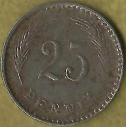 Münze > 25Penny, 1945 - Finnland  - reverse