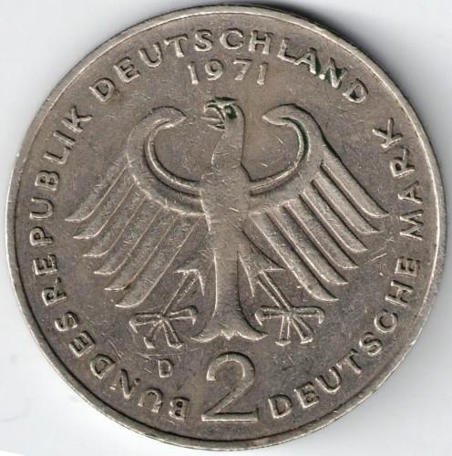 1 deutsche mark 1971 цена старинные деньги стран мира