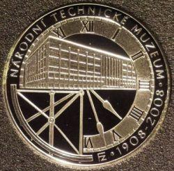 Moneda > 200coronas, 2008 - República Checa  (100th Anniversary - National Technical Museum) - reverse