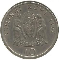 Munt > 10shillings, 1987-1989 - Tanzania  - reverse