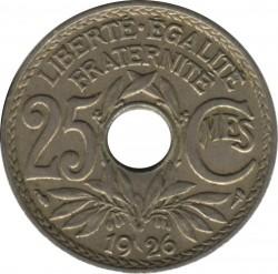 Moneda > 25centimes, 1917-1937 - França  - reverse