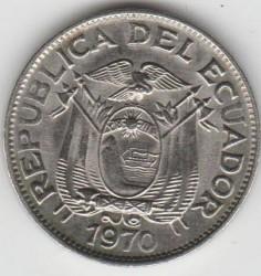 Pièce > 5centavos, 1970 - Équateur  - obverse