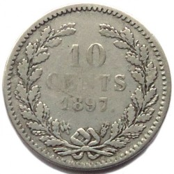 Moneta > 10centesimi, 1892-1897 - Paesi Bassi  - reverse