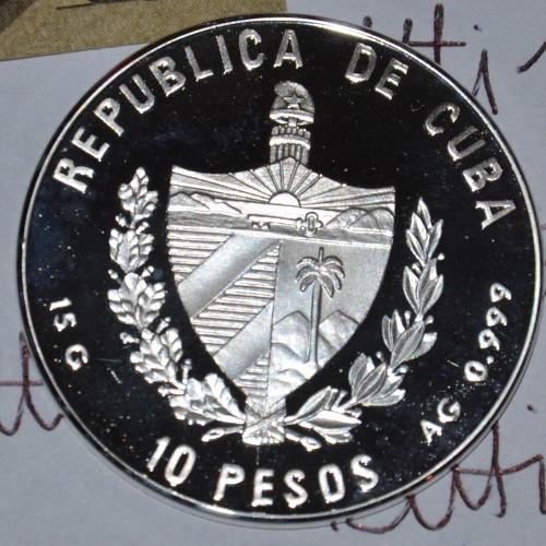 10 Pesos 1999 Johann Wolfgang Von Goethe Kuba Münzen Wert