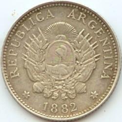 硬币  /> 20分, 1881-1883 - 阿根廷 - obverse