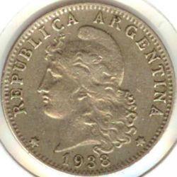 Moneda > 20centavos, 1938 - Argentina  - obverse