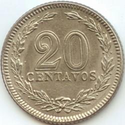 Münze > 20Centavos, 1942 - Argentinien   (Kupfernickel / grau) - reverse