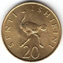 Moneta > 20senti, 1966-1984 - Tanzania  - reverse