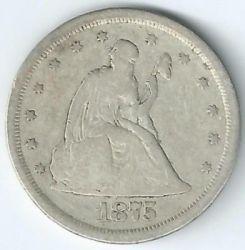 سکه > ¼دلار, 1875-1891 - ایالات متحده آمریکا  (Seated Liberty Quarter) - obverse
