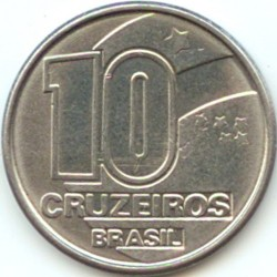 Monēta > 10kruzeiro, 1990-1992 - Brazīlija  - obverse