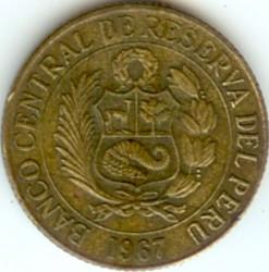 Pièce > ½sol, 1966-1973 - Pérou  - obverse