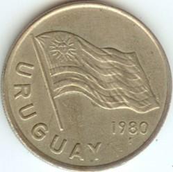 Монета > 5новихпесо, 1980-1981 - Уругвай  - obverse