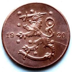 Münze > 1Penny, 1920 - Finnland  - obverse