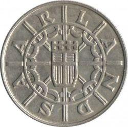 Coin > 100francs, 1955 - Saar  - obverse