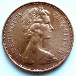Coin > 2 new pence, 1976 - United Kingdom  - obverse