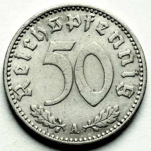 50 Reichspfennig 1939 1944 Deutschland Drittes Reich Münzen